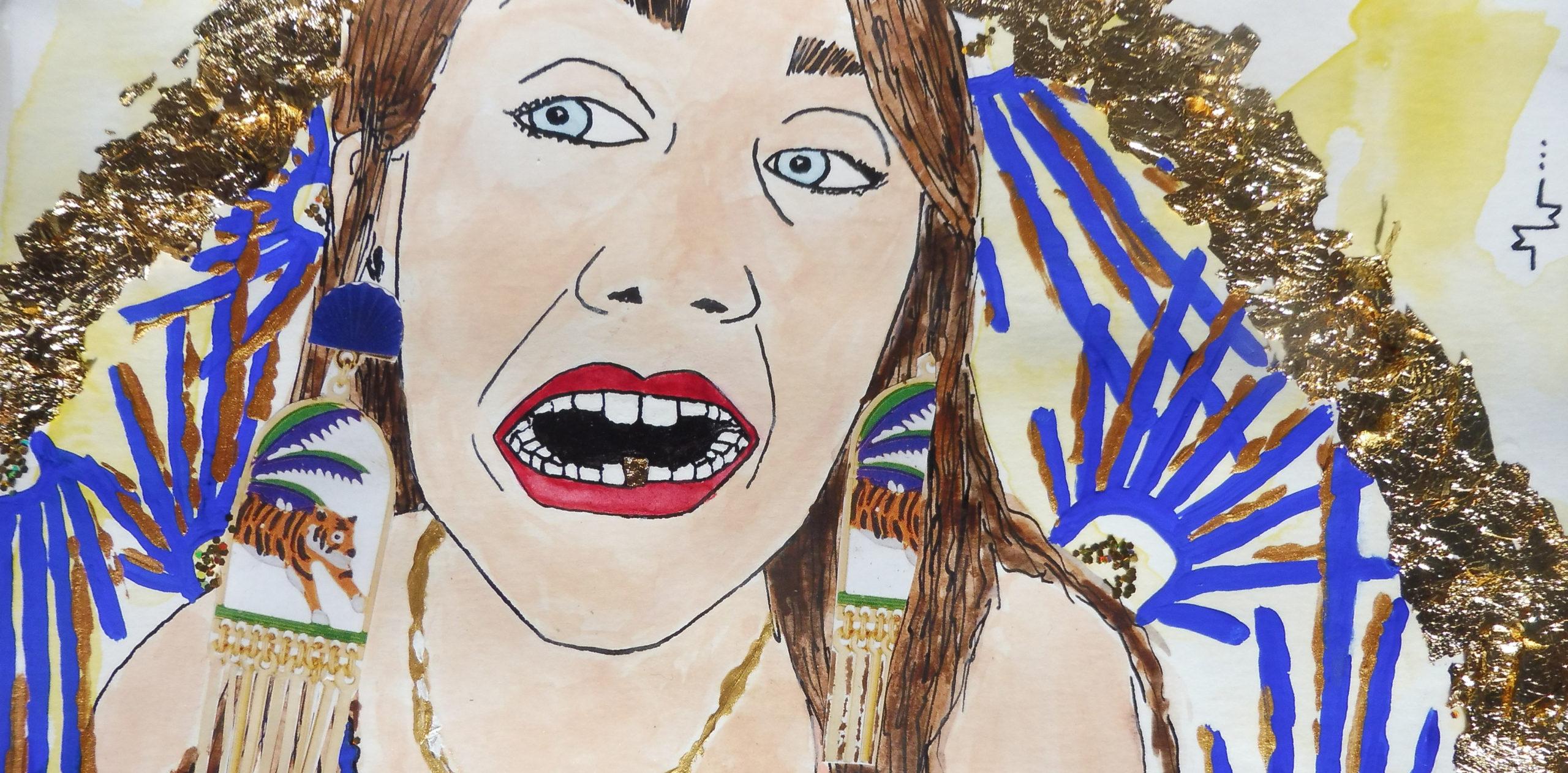 Marie Wuithier - Autoportrait painting